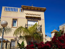 Traditional Spanish style house real estate Spain Royalty Free Stock Photography