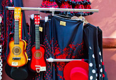 Traditional spanish suits for flamenco Stock Photography