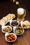 Traditional spanish Tapas Royalty Free Stock Photography
