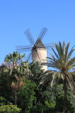 Traditional spanish windmill. In Palma de Mallorca, Spain Stock Images