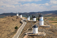 Traditional spanish windmills Royalty Free Stock Image