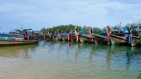 Traditional speed boats of Thailand Royalty Free Stock Photos