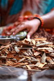 Traditional spices and dry fruits in India Royalty Free Stock Photo