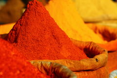 Traditional spices market Royalty Free Stock Photography