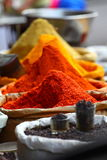 Traditional spices market. In India Royalty Free Stock Images