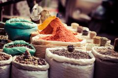 Traditional spices market in India. Traditional spices market in India Royalty Free Stock Photo