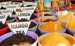 Traditional spices market in India Stock Images