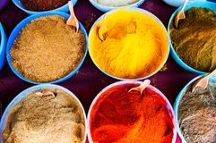 Traditional spices market in India Royalty Free Stock Images