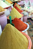 Traditional spices market in Morocco Africa Royalty Free Stock Images