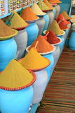 Traditional spices market in Morocco Africa Royalty Free Stock Photo