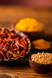 Traditional spices, oriental theme with seasoning Stock Photography