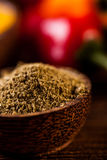 Traditional spices, oriental theme with seasoning Royalty Free Stock Images