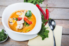 Traditional spicy Thai Tom Yam soup Stock Image