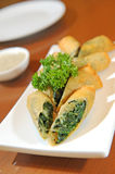 Traditional spinach puff Stock Image