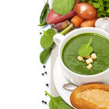 Traditional Spinach soup Stock Image