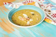 Finnish pea soup with smoked pork Royalty Free Stock Photography
