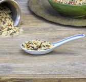 Traditional spoon, rice Stock Photo