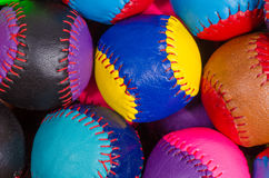 Traditional sport balls background Stock Photos