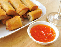 Traditional Spring rolls food Stock Image