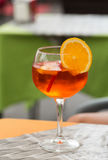 Traditional Spritz aperitif in a bar in Italy Royalty Free Stock Photography