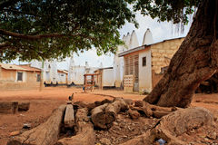 Traditional square. Traditional West African square - wide angle,  in Wa, Ghana Stock Photos