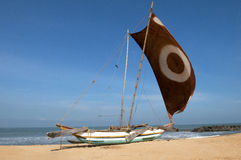 Traditional Sri Lanka fishing boat Stock Image