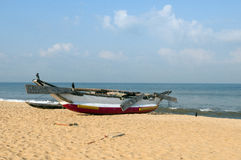 Traditional Sri Lanka fishing boat Royalty Free Stock Photo