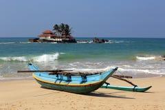 Traditional Sri Lanka fishing boat Stock Photo