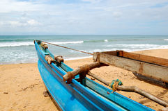 The traditional Sri Lanka's boat for fishing Royalty Free Stock Image