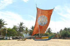 Traditional sri lankan boat Royalty Free Stock Photography