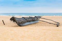 Traditional Sri Lankan fishing boat Stock Photography