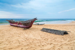 Traditional Sri Lankan fishing boat Royalty Free Stock Photography