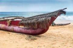 Traditional Sri Lankan fishing boat. Stock Photo