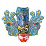 Traditional Sri Lankan Mask Isolated Stock Photography