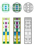 Traditional Stained Glass patterns Stock Photo