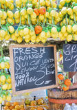 Traditional stall selling lemon sorbets. Near Sorrento - Italy Stock Photo