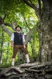 Traditional standing Bavarian man Royalty Free Stock Photos