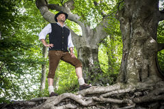 Traditional standing Bavarian man Stock Images