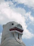 TRADITIONAL STATUE OF LION HEAD Royalty Free Stock Photos