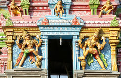 Traditional statues of gods and goddesses in the Hindu temple Royalty Free Stock Photos