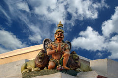 Traditional statues of gods and goddesses in the Hindu temple Stock Photography