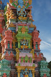 Traditional statues of gods and goddesses in the Hindu temple Royalty Free Stock Photography