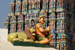 Traditional statues of gods and goddesses in the Hindu temple Royalty Free Stock Photo