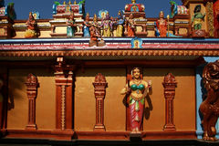 Traditional statues of gods and goddesses in the Hindu temple Royalty Free Stock Images