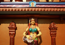 Traditional statues of gods and goddesses in the Hindu temple Stock Images