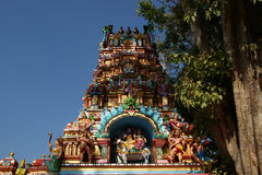 Traditional statues of gods and goddesses in the Hindu temple Royalty Free Stock Image