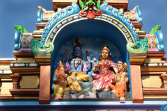 Traditional statues of gods and goddesses in the Hindu temple Stock Photos