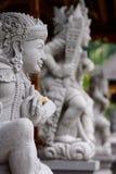 Traditional statues. Tirta Empul. Tampaksiring. Gianyar regency. Bali. Indonesia stock photos