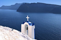 Traditional steeple in Greece Royalty Free Stock Photo