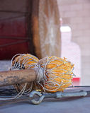 Traditional stick and drum in Buddhist temple Royalty Free Stock Photos